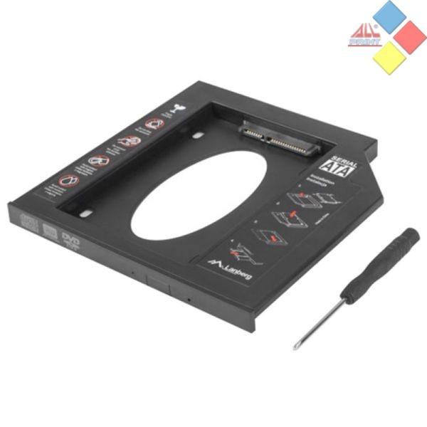 ADAPTADOR LANBERG DISCO 2.5 / SSD SATA 9.5mm A BAHIA GRABADORA PORTATIL
