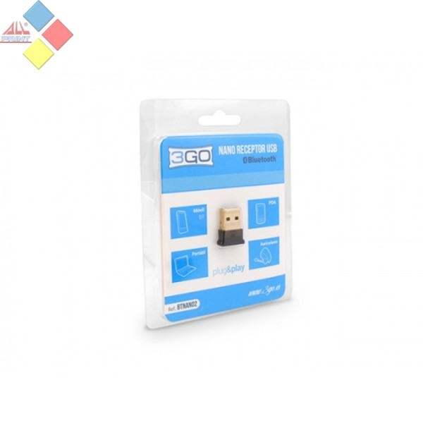 ADAPTADOR MINI BLUETOOTH USB DONGLE 3GO 4.0
