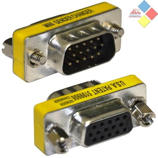 ADAPTADOR VGA HDB15 MACHO-VGA HDB15 HEMBRA ***LIQUIDACION***