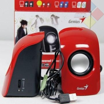 ALTAVOCES GENIUS 2.0 SP-U115 1.5W / CONTROL VOLUMEN / USB POWERED ROJO