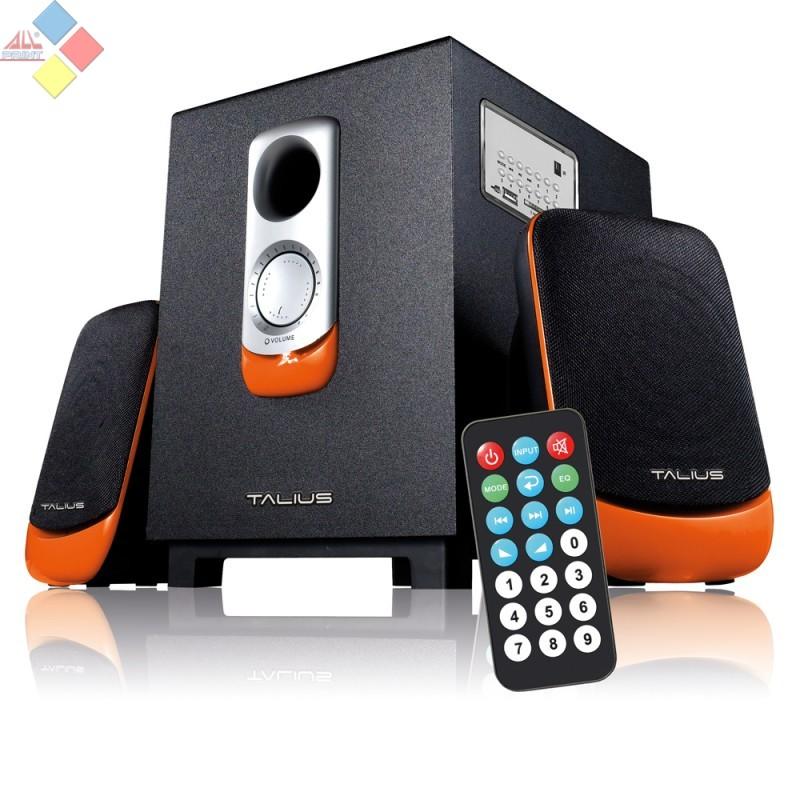 ALTAVOCES TALIUS 2.1 SPK-2101BT BLUETOOH USB SD FM 9W NEGRO / NARANJA