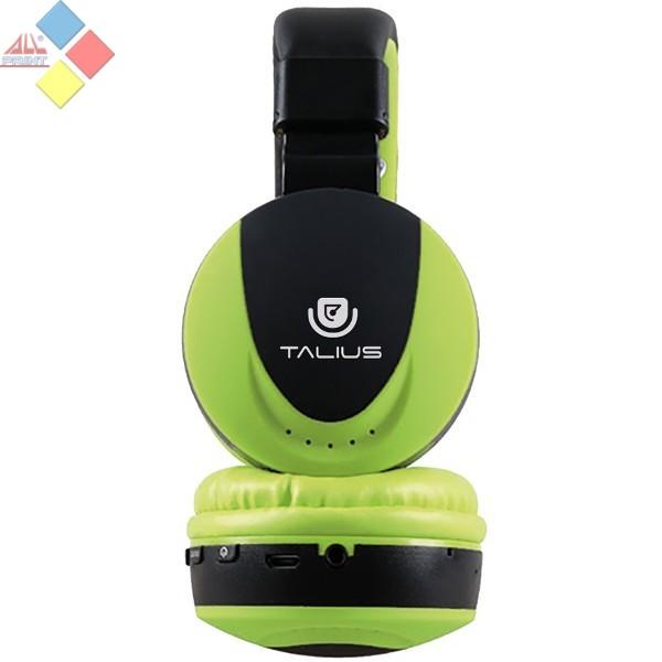 AURICULAR CON MANOS LIBRES BLUETOOTH TALIUS HPH-5006BT FM / MICRO SD VERDE