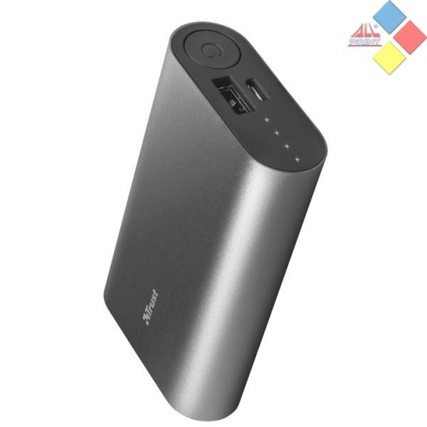 BATERIA EXTERNA TRUST LUCO METAL 5000MAH USB  / 2.1A