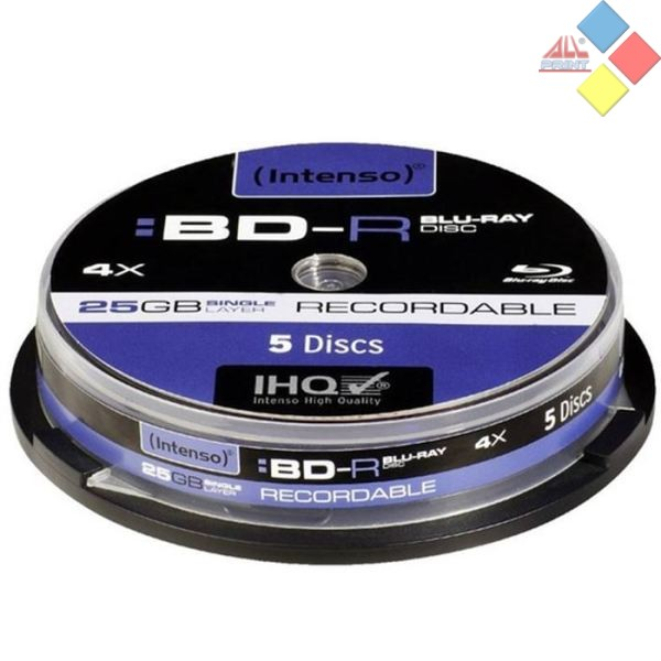 BLURAY -R REGRABABLE INTENSO 25GB 4X T.5