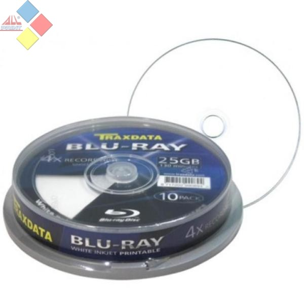 BLURAY -R TRAXDATA PRINTABLE 25GB 4X TARRINA 10