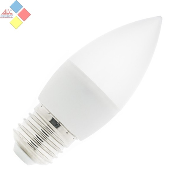 BOMBILLA LED E27 VELA 5W COLOR BLANCO FRIO
