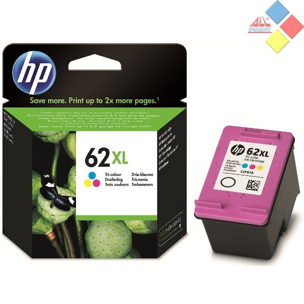 C2P07AE - HP Nº62XL COLOR ENVY 5640 / 7640 / OFFICEJET 5740 / 5742 415 PAG