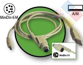 CABLE ALIMENTACION 5 VOLTIOS USB / PS2 ***LIQUIDACION***