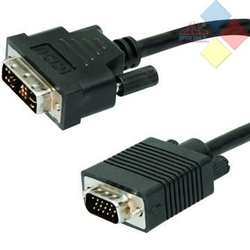 CABLE DVI MACHO / VGA MACHO 2M 3GO