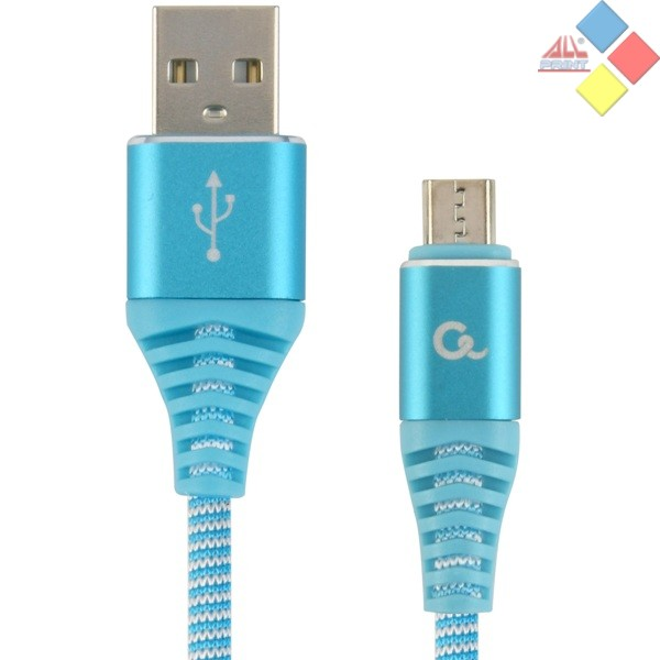 CABLE USB 2.0 CABLEXPERT TIPO A-MICRO USB 1M  CARGA RAPIDA AZUL