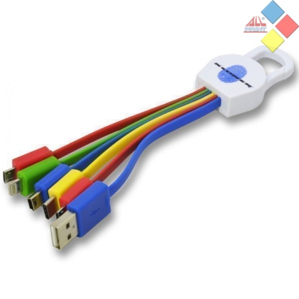 CABLE USB 6 EN 1  USB 3.1 / TIPO C / MICRO USB / MINI USB / LIGHTNING