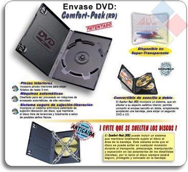 CAJA DVD SIMPLE TRANSPARENTE NATURAL CONFORT-PACK ***LIQUIDACION***