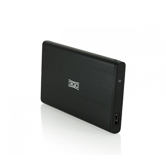 "CAJA EXTERNA 2.5"" SATA USB 2.0 3GO NEGRA"