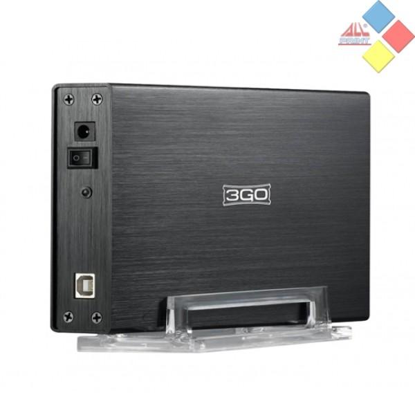 """CAJA EXTERNA 3GO HD SATA / IDE 3.5"""" USB 2.0 NEGRA HDD35BKIS"""