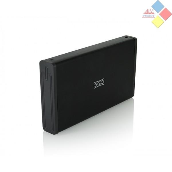 "CAJA EXTERNA 3GO HD SATA 3.5"" USB 3.0 NEGRA"