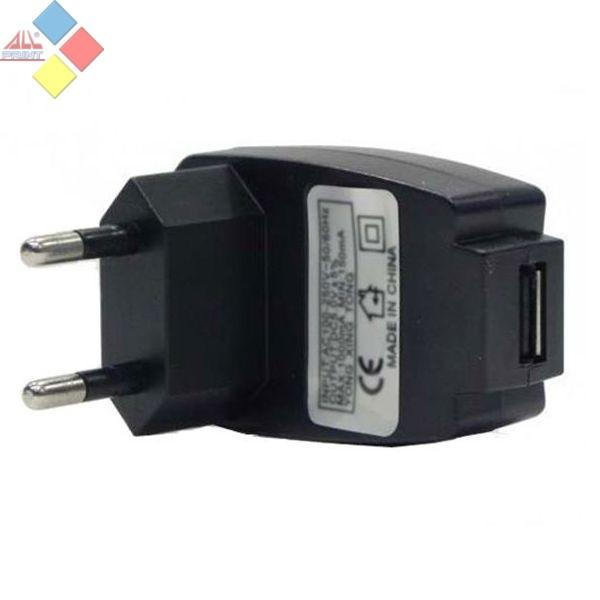 CARGADOR USB 220V AC VALIDO PARA CABLES USB MP3 Y MOVILES 400MAH