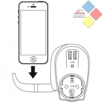 CARGADOR USB DOBLE FONESTAR AD-22U VALIDO PARA CABLES USB MP3 Y MOVILES 2,1A ***LIQUIDACION***