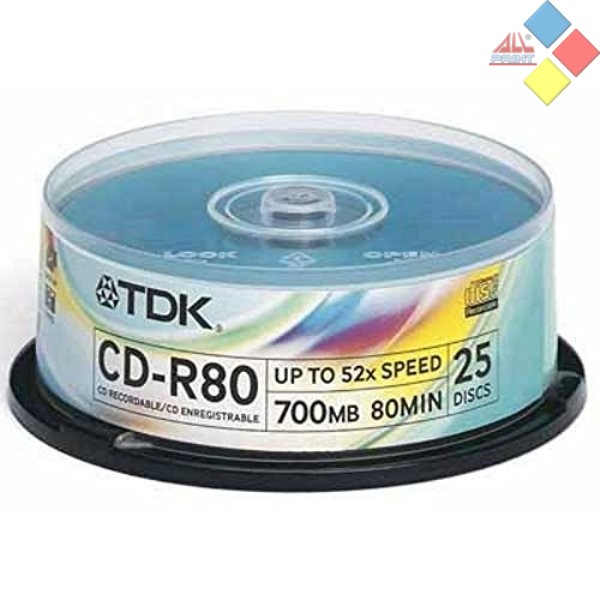 CD-R TDK SPINDLE 25 52X