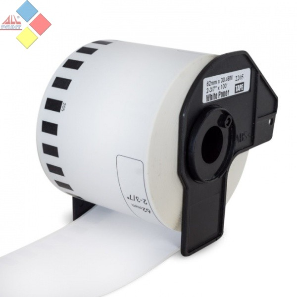 CINTA GENERICA PAPEL CONTINUO BLANCO 62MMX30.48M BROTHER DK-22205
