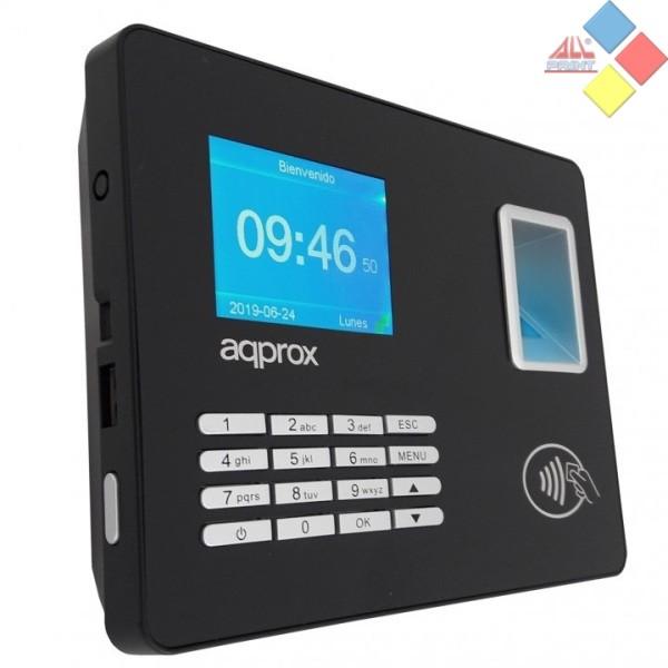 CONTROLADOR DE PRESENCIA POR HUELLA DACTILLAR O PIN APPROX USB / RED HASTA 1000 HUELLAS