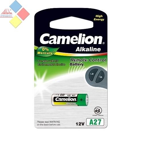 Camelion - Pila Alcalina 0% MERCURIO Control Remoto A27/LR27A/GP27A / 12V-Blister 1 u. ***LIQUIDACION***
