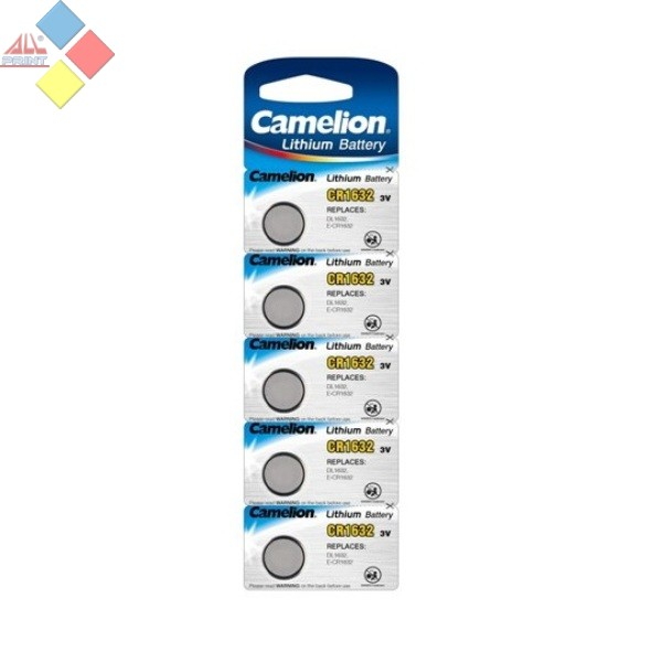 Camelion - Pila boton LITHIUM CR1632/DL1632/ECR1632 - 3V - Pack 5 unid
