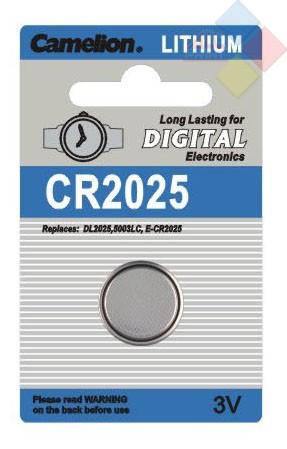 Camelion - Pila boton LITHIUM CR2025/DL2025/5003LC/E-CR2025 - 3V - Blister 1 unid