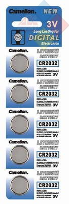 Camelion - Pila boton LITHIUM CR2032/DL2032/5004LC/E-CR2032 - 3V - Pack 5 unid