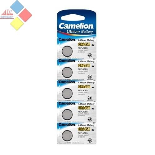 Camelion - Pila boton LITHIUM CR2450/DL2450/5029LC/E-CR2450 - 3V - Blister 5 unid
