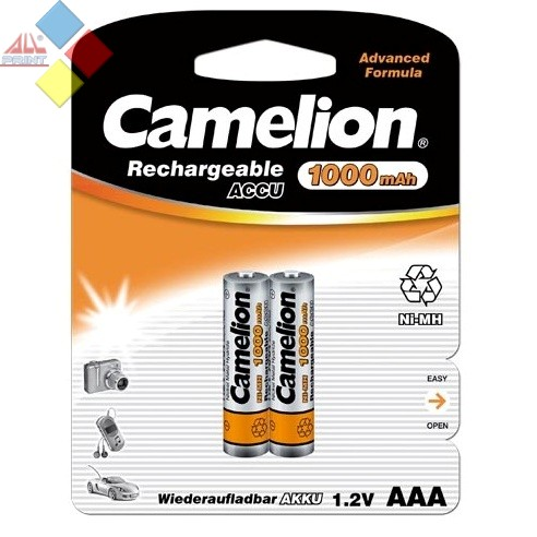 Camelion - Pilas recargables AAA 1000mAh Ni-MH / 2 unid