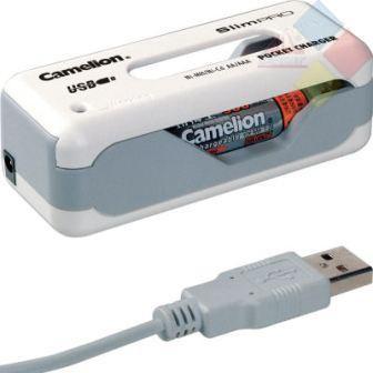 Cargador de pilas para AAA y AA - Conexion puerto USB - Ni-MH / Ni-Cd BC-803 CAMELION