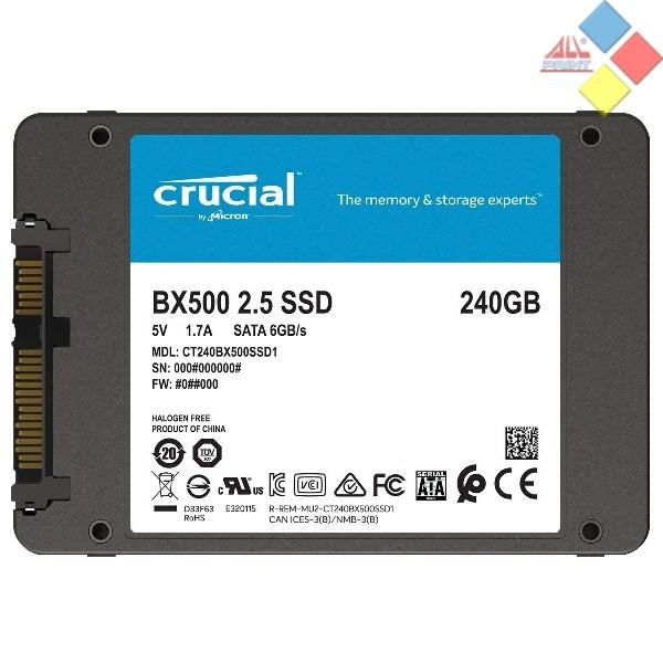 DISCO DURO SSD 2.5 CRUCIAL BX500 240GB SATA 560/510 MB/s