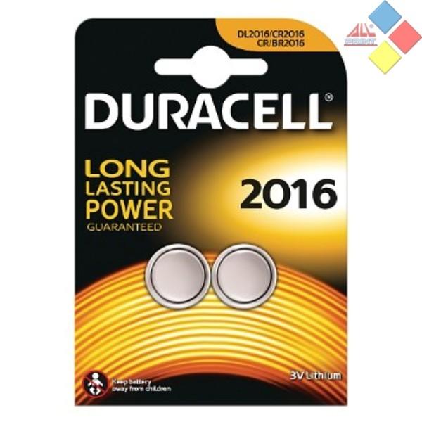 DURACELL - Pila boton LITHIUM CR2016/DL2016/5000LC/E-CR2016 - 3V - Blister 2 unid