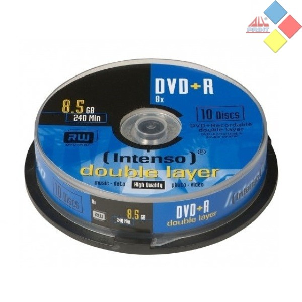 DVD+R DOBLE CAPA INTENSO SPINDLE 10 8X
