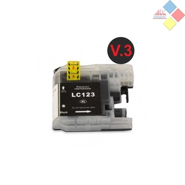 G-LC123BK V3 XL - GENERICO BROTHER DCP-J4110DW / MFC-J4410DW / MFC-J4510DW NEGRO 20.6ML