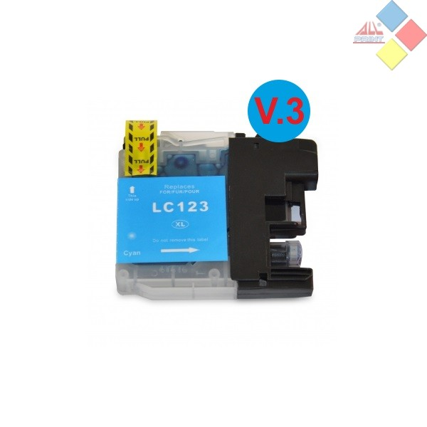 G-LC123C V3 XL - GENERICO BROTHER DCP-J4110DW / MFC-J4410DW / MFC-J4510DW AZUL 10ML