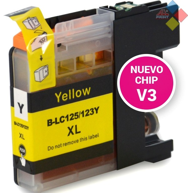 G-LC125Y XL V3 - GENERICO BROTHER DCP-J4110DW / MFC-J4410DW AMARILLO 16 ml
