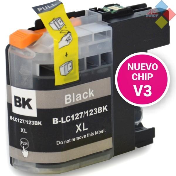 G-LC127BK XL V3 - GENERICO BROTHER DCP-J4110DW / MFC-J4410DW NEGRO 28 ml