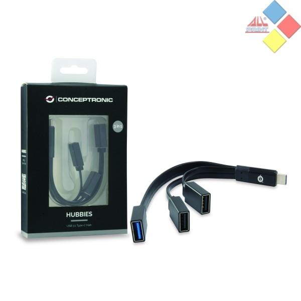 HUB CONCEPTRONIC USB TIPO C A 1 PTO USB 3.0 + 2 PTO USB 2.0