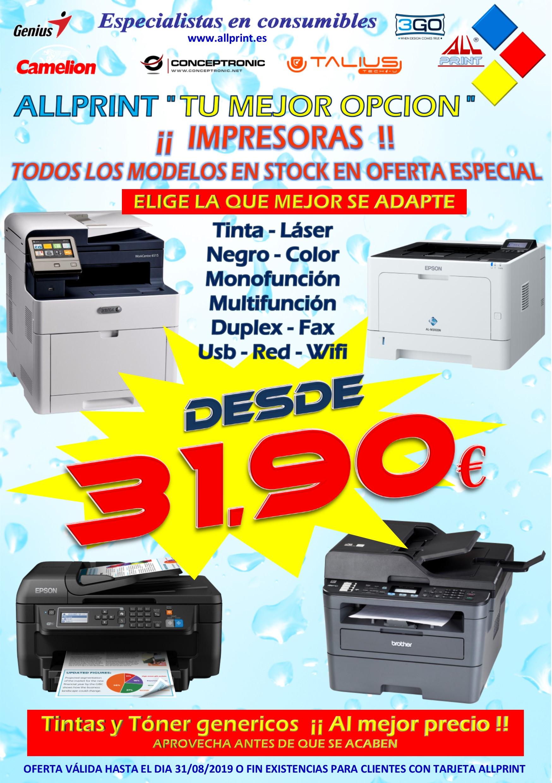 IMPRESORAS DESDE 31,90€