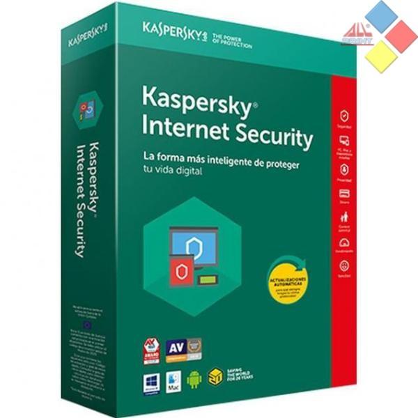 KASPERSKY ANTIVIRUS INTERNET SECURITY 2019 4 LICENCIAS 1 AÑO MULTI-DEVICE SIN CD