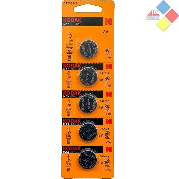 KODAK - Pila boton LITHIUM CR2032/DL2032/5004LC/E-CR2032 - 3V - Blister 5 unid