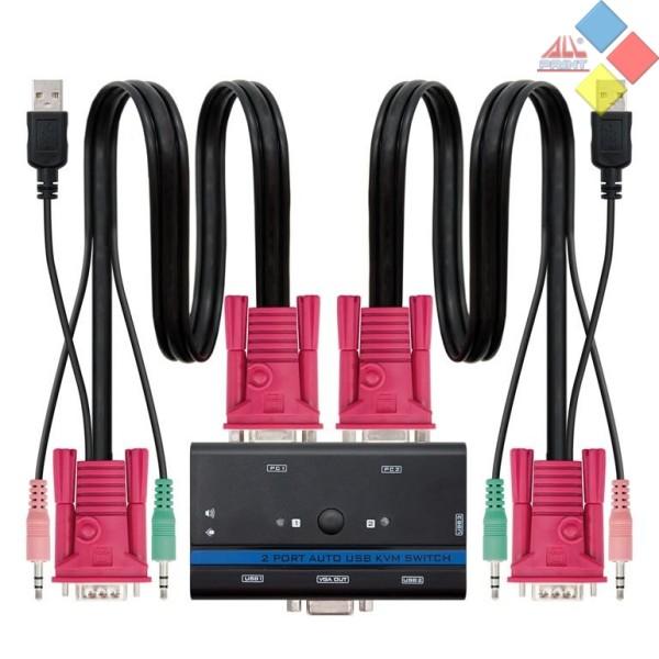 KVM ASIENS  A111-0064  2PC  VGA/USB/JACK 3.5