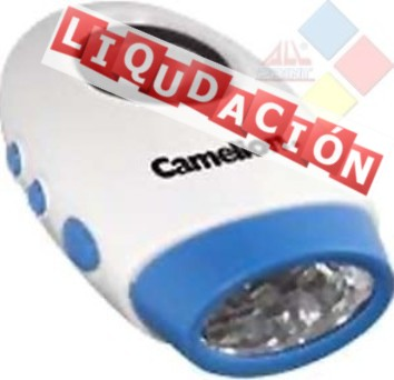 LINTERNA CAMELION CON RELOJ INCORPORADO CON 4 LED ***LIQUIDACION***