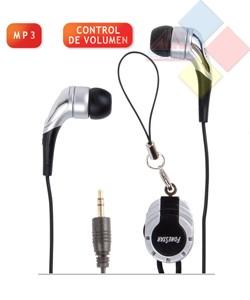 MINI AURICULAR FONESTAR HI-FI 2,5 MM DIGITAL CON COLGADOR DE MP3 Y CONTROL VOLUMEN  FA-407 ***LIQUIDACION***