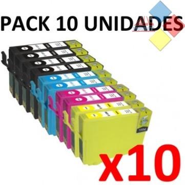 PACK TINTA 611/2/3/4 - GENERICO EPSON PACK 10 CARTUCHOS (4BK/2C/2M/2Y) ***LIQUIDACION***