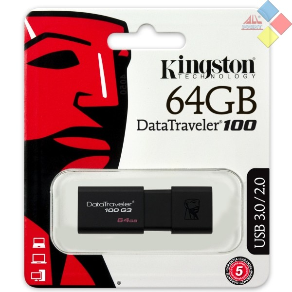 PENDRIVE KINGSTON 64GB DATATRAVELER 100 G3 3.0