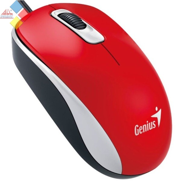 RATON OPTICO GENIUS DX-110 USB ROJO