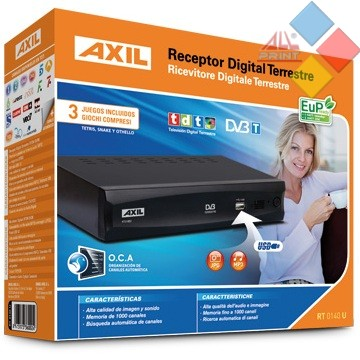 RECEPTOR SOBREMESA (TDT) AXIL RT0140U 2 EUROCONECTORES USB