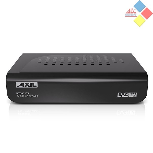 RECEPTOR SOBREMESA (TDT) AXIL RT0420T2 HDMI / EUROCONECTORES USB REPRODUCTOR Y GRABADOR